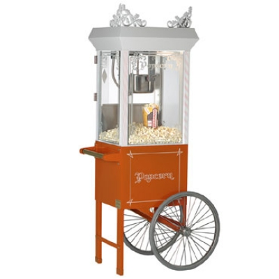 Gold Medal 2660GTO 120208 Popcorn Machine, 6-oz EZ Kleen Kettle, Antique Orange Dome, 120/208