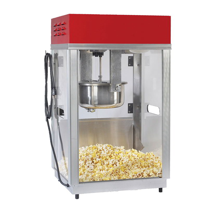 Gold Medal 2660SR 120208 Portable Popcorn Machine w/ 6-oz Kettle & Red Top, 120v