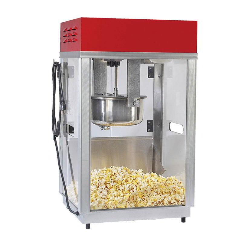 Gold Medal 2660SR 120240 Portable Popcorn Machine w/ 6-oz Kettle & Red Top, 120/240 V