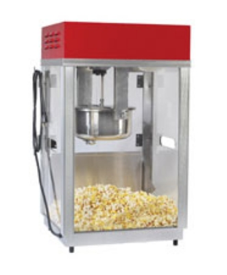 Gold Medal 2660SR 120208 Portable Popcorn Machine w/ 6-oz Kettle & Red Top, 120/208 V