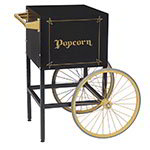 Gold Medal 2689BKG Fun Pop Cart for 8-oz Popper Machine w/ Rear Access Door, Black
