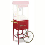 Gold Medal 2689CR Fun Pop Cart for 8-oz Popper Machine w/ Rear Access Door, Red