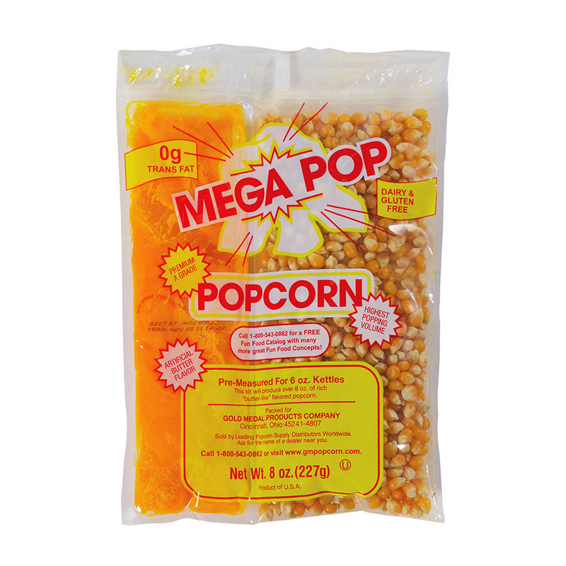 Gold Medal 2839 Mega Pop Corn Oil and Salt Kit for 12-oz Kettles