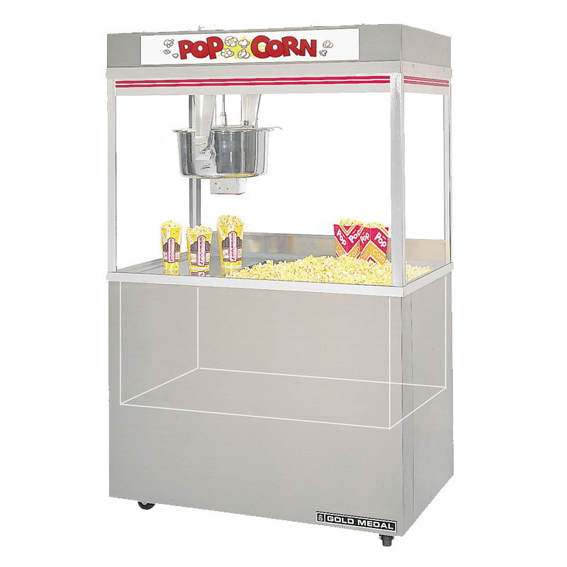 Gold Medal 2860ED 120208 Grand Pop O Gold Popcorn Machine, 32 oz Kettle, 120/208 V