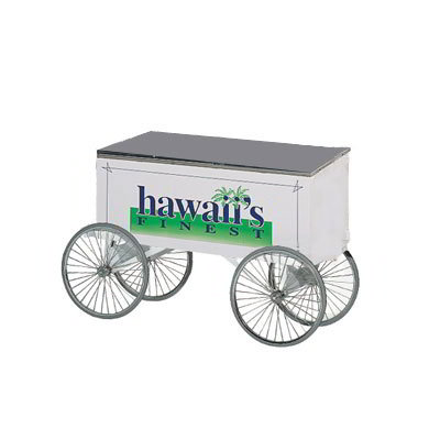 Gold Medal 2936 Go Anywhere Mighty Mite Wagon w/ 4-Spoke Wheels, Stainless, Red