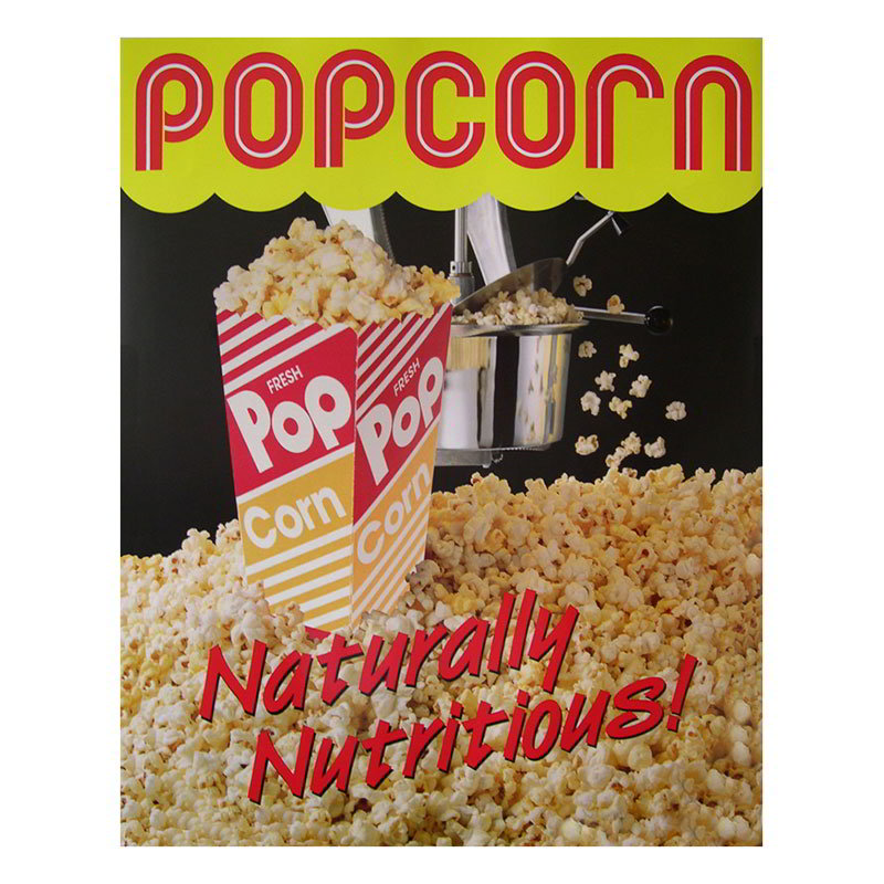 Gold Medal 2988 Popcorn Poster, Natural and Delicious