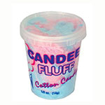 Gold Medal 3020N 0.5-oz Disposable Candee Fluff Containers w/ Open One Time Only Lids, 400/Case