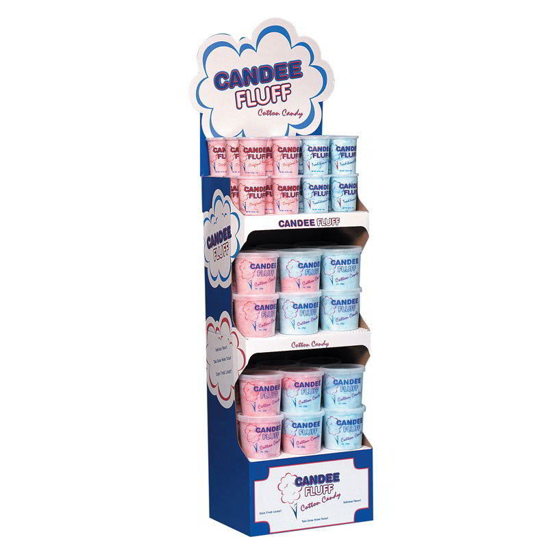 Gold Medal 3039 Candee Fluff Merchandiser w/ 3-Shelves, Display 2-Colors & 2-Sizes