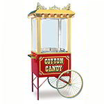 Gold Medal 3118CF Antique Floss Cart w/ 2-Spoke Wheels, Red & Gold