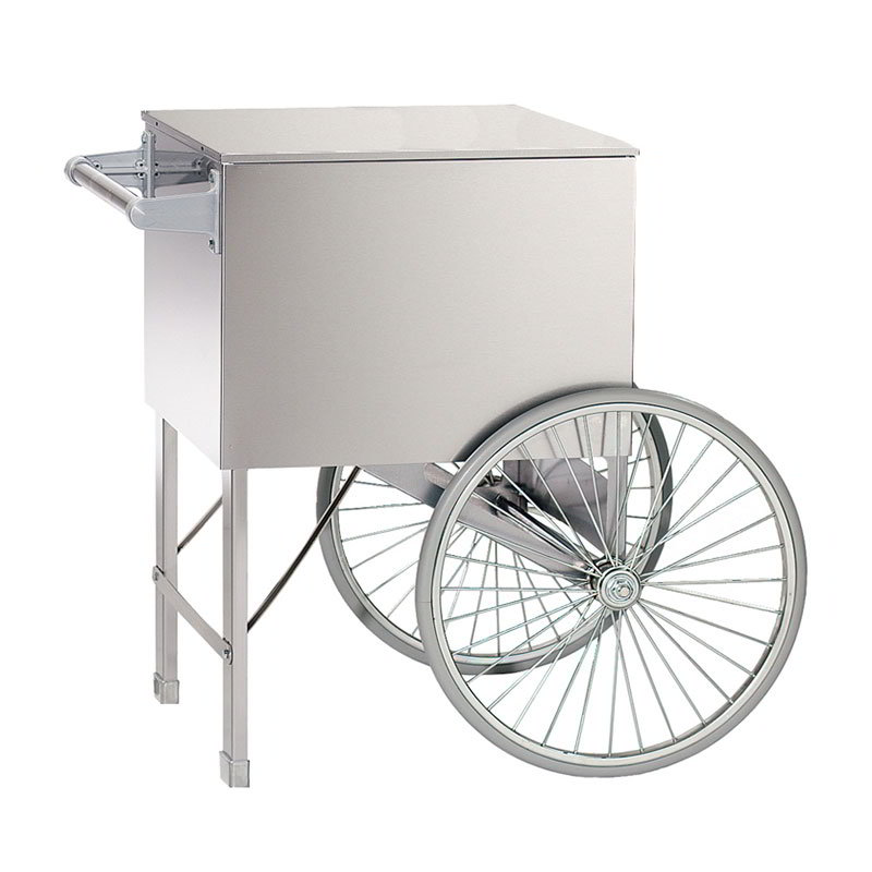 Gold Medal 3118SS Candee Fluff Lobby Master Wagon w/ Lexan Sneeze Guard & 2-Shelves, Stainless