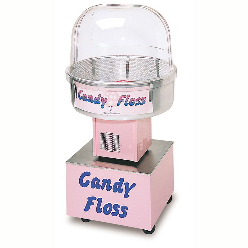 Gold Medal 3148FC Floss About Cotton Candy Cart w/ Pull Rope & 4-Casters, Pink