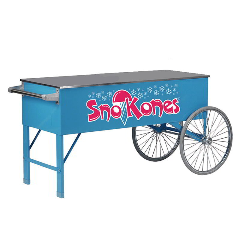 Gold Medal 3150SK SnoKone Cart w/ 2-Spoke Wheels & Stainless Countertop, Blue