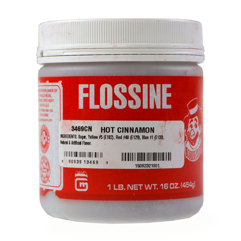 Gold Medal 3469CN Hot Cinnamon Flavored Flossine, 1-lb Container