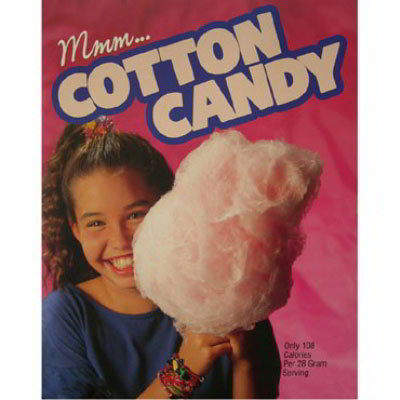 Gold Medal 3995 Large Laminated Cotton Candy Poster