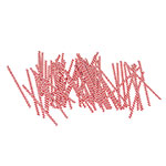 Gold Medal 4015 4-in Red & White Striped Twist Ties, 2,000/Carton