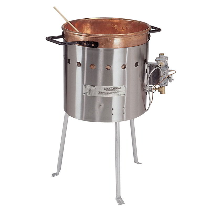 "Gold Medal 4110BG 16"" Round LP Gas Candy Apple Stove"