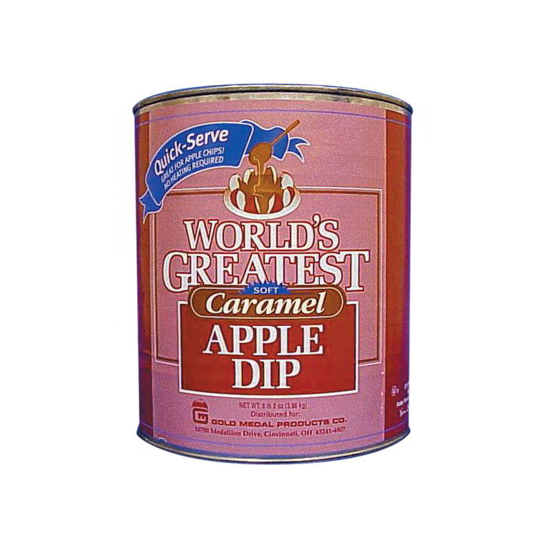 Gold Medal 4225 8-lb Quick Serve Worlds Greatest Caramel Apple Dip, 6/Case