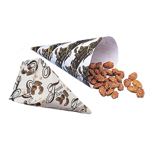 Gold Medal 4502 Frosted Nut Cones Heavy Graphics Master Case of 2500 (junior cartons of 250) Restaurant Supply
