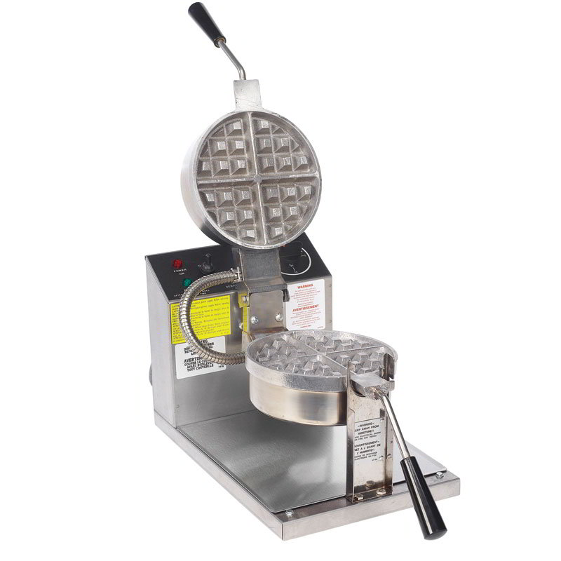 Gold Medal 5021 Belgian Waffle Baker w/ 7.25-in Fixed Grid, Stainless