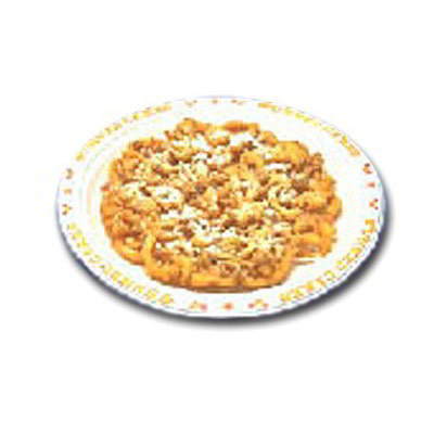 "Gold Medal 5111 9"" Disposable Funnel Cake Platter w/ Printed Border, 1000/Case"