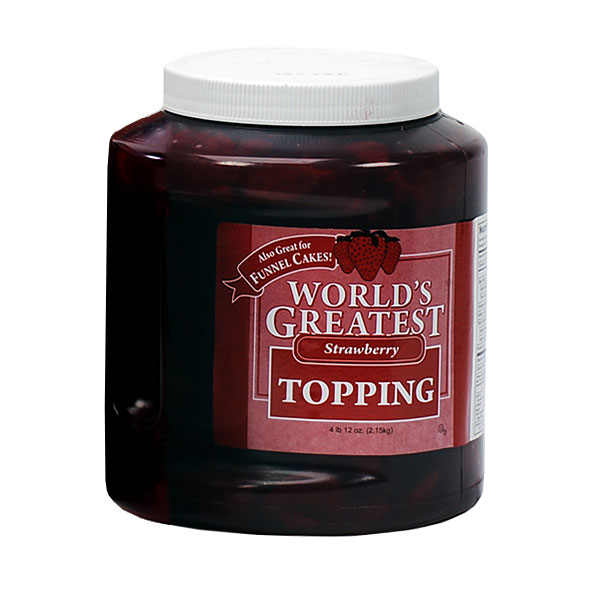 Gold Medal 5140 66-oz Worlds Greatest Toppings, Strawberry, 3-Jars/Case
