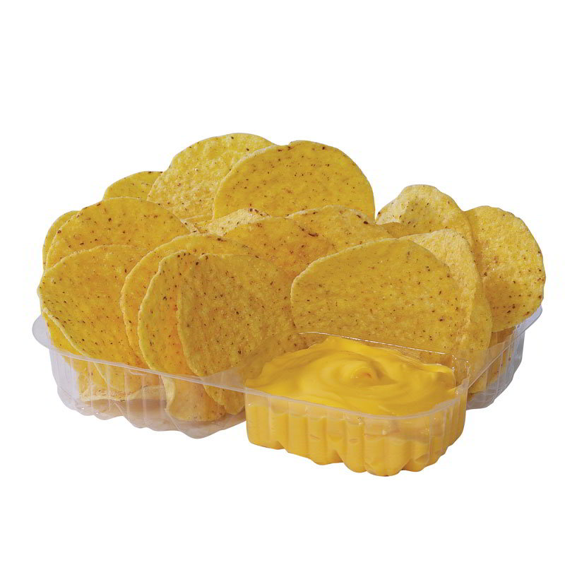 Gold Medal 5246 Disposable Heavy Duty Nacho Tray w/ 2-Compartments, 500/Case