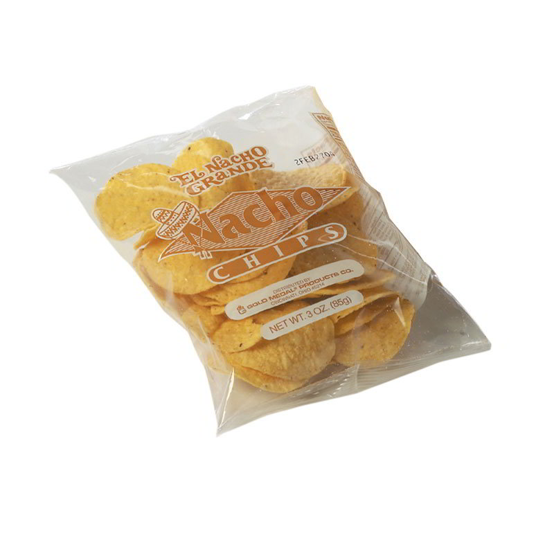 Gold Medal 5256 24-oz Round El Nacho Grande Regular Nacho Chips, 4-Bags/Case