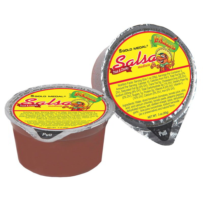 Gold Medal 5268 Medium La SalsaRia Concession Pak Salsa - (30) 3-oz Cups