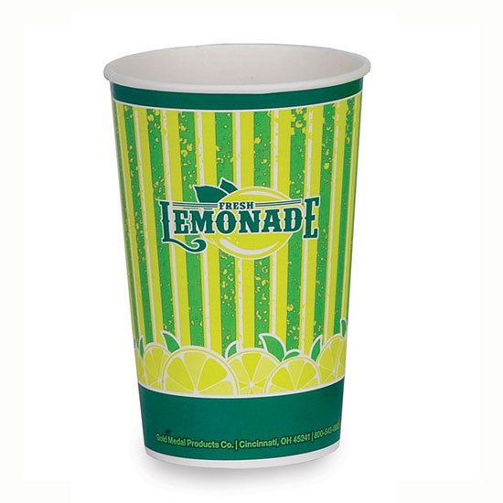 Gold Medal 5304 16-oz Lemonade Special Print Disposable Cups, 1,000/Case