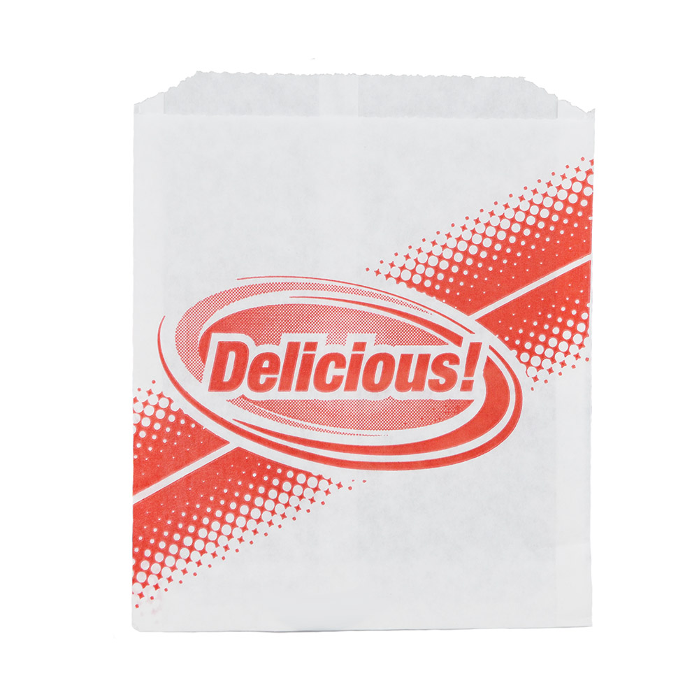 Gold Medal 5426 Delicious Disposable Hot Dog Sandwich Bags, Dry Wax, 1,000/Case