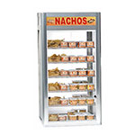 "Gold Medal 5511 19.5"" Countertop Heated Nacho Warmer w/ 5-Display Shelves & Illuminated Sign"
