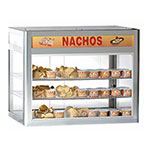 "Gold Medal 5512 29.5"" Countertop Heated Nacho Warmer w/ 2-Display Shelves & Illuminated Sign"