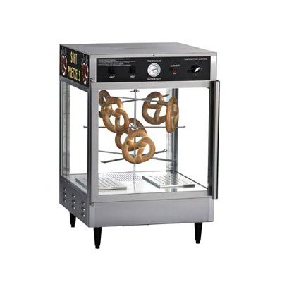 Gold Medal 5550PRD 23-in Countertop Merchandiser w/ 70-Jumbo Pretzel Capacity & 2-Pass Thru Doors