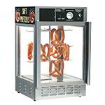 "Gold Medal 5551PRL 18"" Countertop Merchandiser w/ 50-Jumbo Pretzel Capacity & 1-Door, Sign"