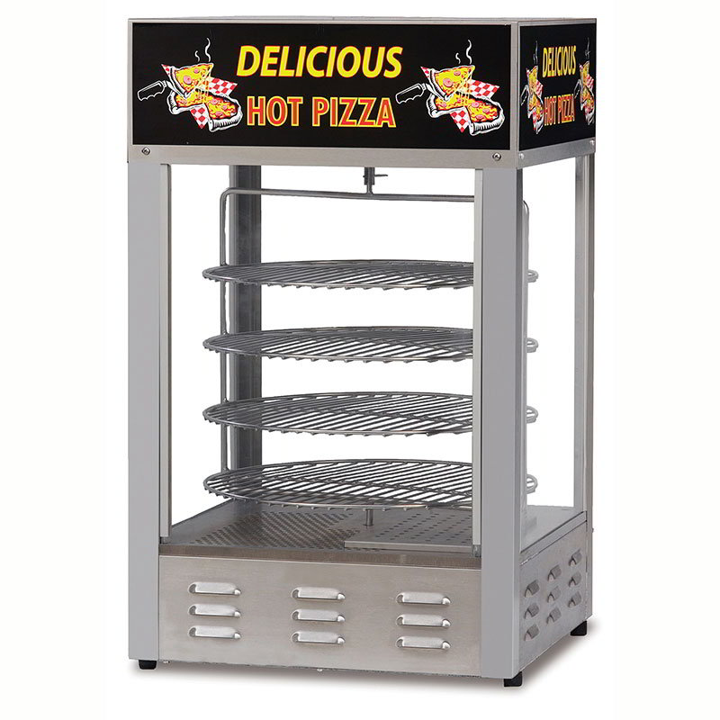 "Gold Medal 5551PZ 18"" Countertop Merchandiser w/ (4) 14"" Pizza Capacity & 1-Door"