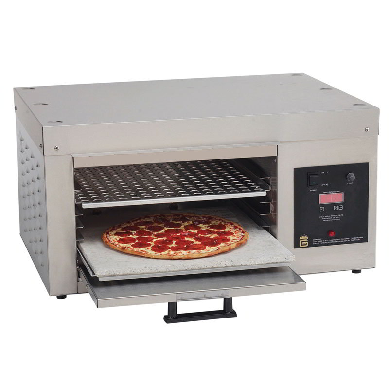 Gold Medal 5554 Countertop Pizza Oven - Single Deck, 120v