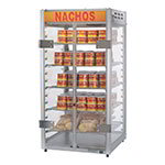 "Gold Medal 5588 12"" Countertop Grande Nacho Portion Pak Display w/ 5-Shelves & 2-Lift Out Doors"