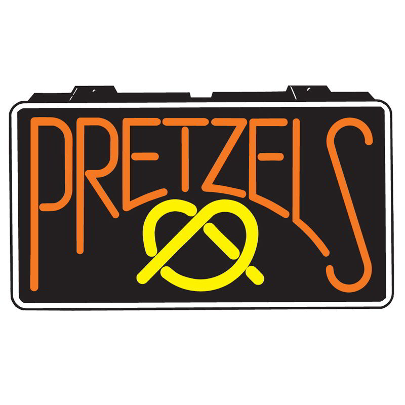 Gold Medal 5784 Pretzel Lighted Menu Sign