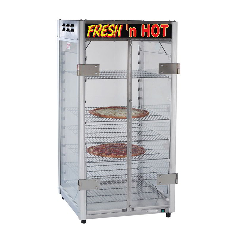 Gold Medal 5888 Warming Cabinet w/ 5-Shelves & Lift Off Doors, Fresh and Hot Graphics