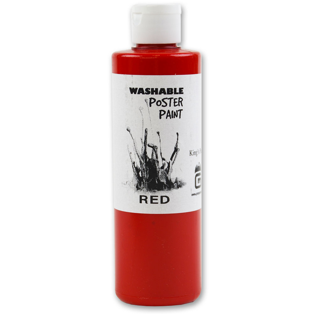 Gold Medal 7730 8-oz Red Washable Paint, 12-Bottles/Case
