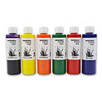 Gold Medal 7736 8-oz Washable Paint Kit w/ 2-of Each Color, 12-Bottles/Case