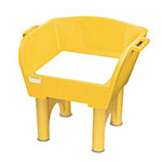 Gold Medal 7753 Whiz Bang Carnival Game Base w/ Sun, Weather Resistance & Washable, Yellow