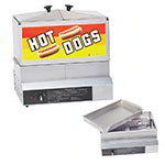 Gold Medal 8007DE Hot Dog Steamer, 6-Quarts Water Capacity, Drip Cap, 120V