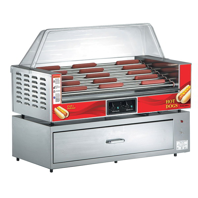 Gold Medal 8019 Hot Diggity Bun Warmer w/ 1-Drawer & 72-Bun Capacity, Stainless