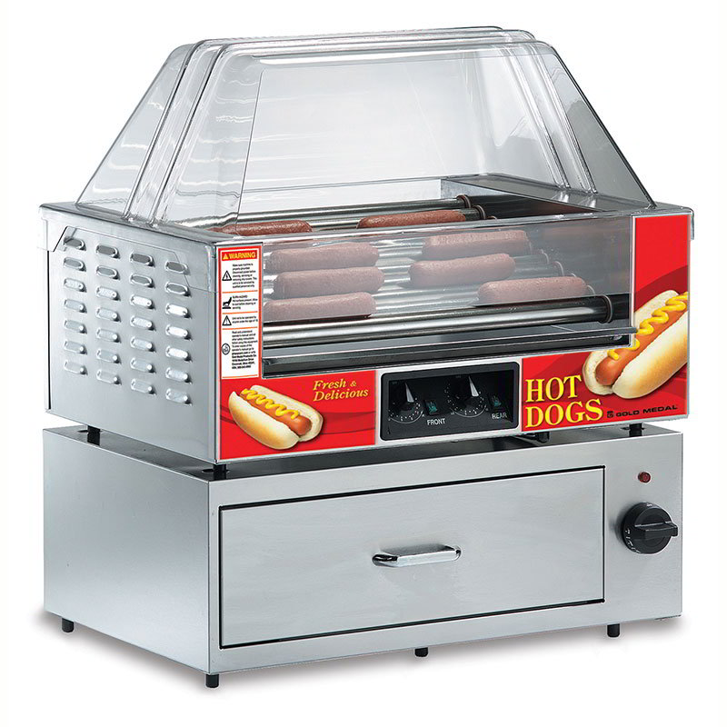Gold Medal 8023SL 36 Hot Dog Roller Grill - Slanted Top, 120v