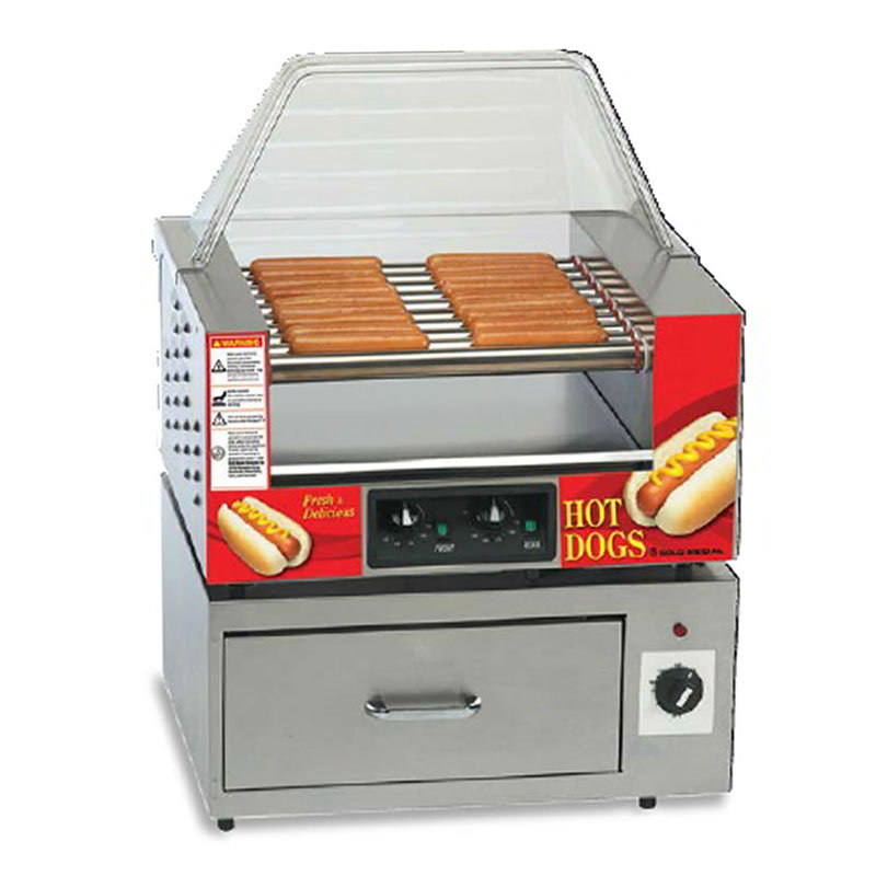 Gold Medal 8024 36-Hot Dog Roller Grill - Flat Top, 120v