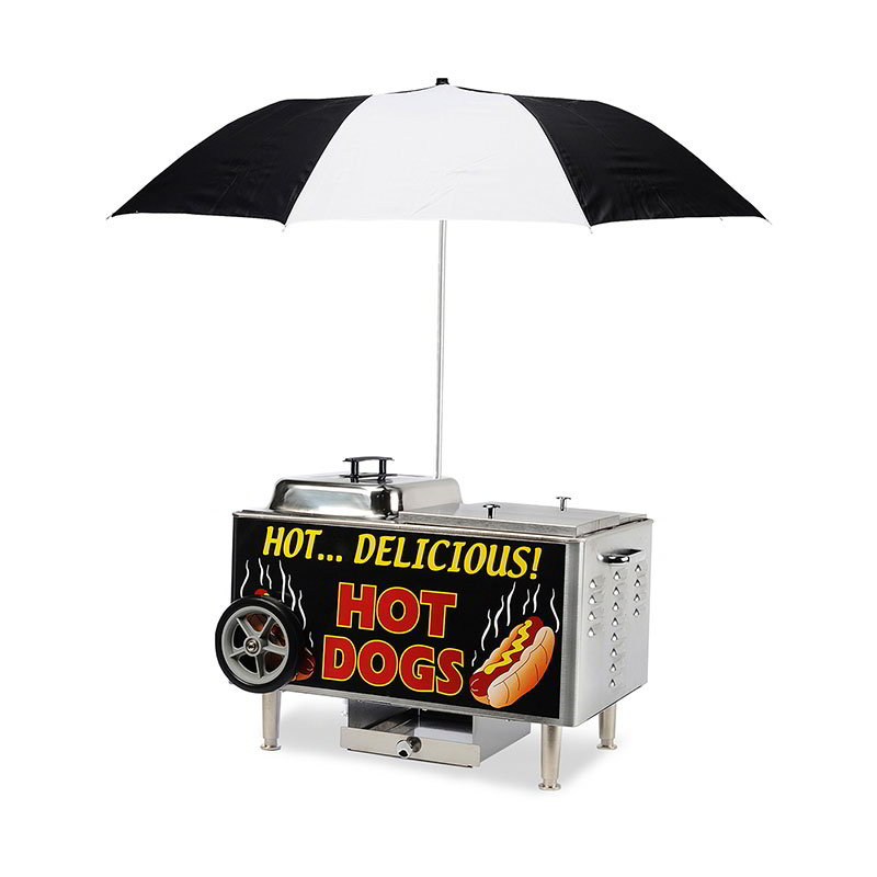 Gold Medal 8081 Table Top Stern Steamer Cart w/ 2-Hot Dog & 1-Bun Compartments
