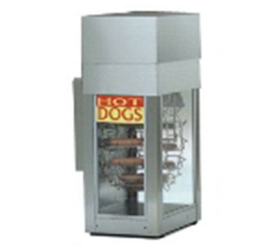 Gold Medal 8104 Dogeroo Rotisserie Cooker w/ 56-Hot Dog & 40-Bun Capacity, Spiked Tooth