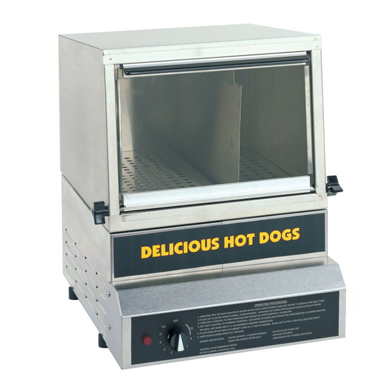 Gold Medal 8150 Heavy Duty Steamer & Bun Warmer w/ 50-Hot Dog Capacity