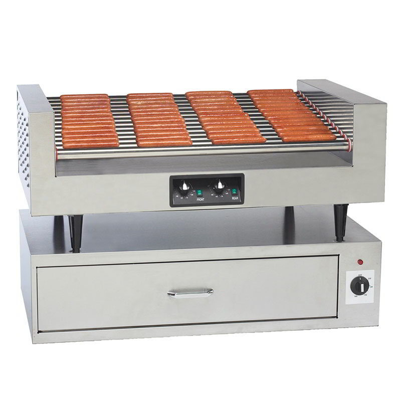 Gold Medal 8225F Hot Diggity Grill w/ 14-Rollers & 78-Hot Dog Capacity, Front Counter